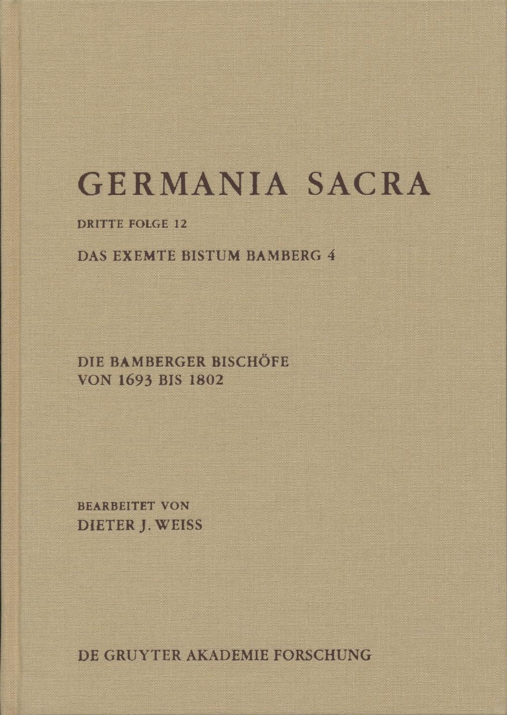 Buchumschlag Germania Sacra